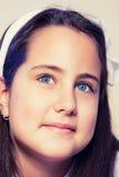 Portrait d'une petite fille dans son premier jour de communion Images libres de droits