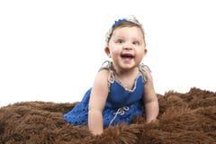 Portrait d'une petite fille recherchant Image stock