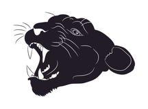 Portrait d'une silhouette de puma, vecteur illustration stock