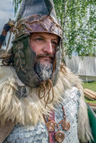 Portrait of Dacian soldier in battle costume Royalty Free Stock Images