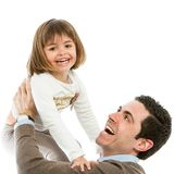 Dad and daughter playing around. Royalty Free Stock Image