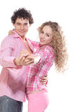 Portrait of a dancer couple Royalty Free Stock Photo