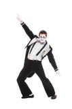 Portrait of dancer mime. Isolated on white background Stock Photo