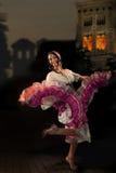 Dancing Gypsy girl Royalty Free Stock Image