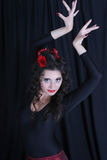 Portrait of dancing woman Royalty Free Stock Photos