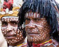 Portrait Dani tribe Warrior. Royalty Free Stock Photos