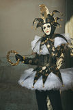 Portrait of a dark elegant joker Stock Images