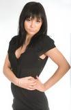 Portrait of the dark-haired girl Stock Image