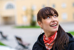 Portrait of dark-haired girl Royalty Free Stock Photos