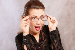 Portrait of dark-haired secretary Royalty Free Stock Photography