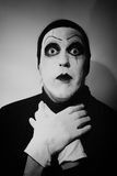 Portrait of dark  mime Stock Photos