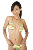 Portrait of dark skined girl in bikini Royalty Free Stock Image