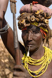 Portrait of Dassanech woman royalty free stock images