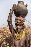 Portrait of Dassanech woman Stock Image