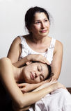Portrait of daughter and her mother Royalty Free Stock Photography