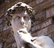 David of Michelangelo in Florence royalty free stock photos