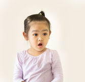 Portrait de bébé asiatique au choc exprimé photo stock