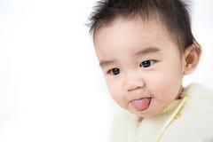 Portrait de bébé mignon asiatique de sourire Photos stock