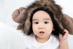 Portrait de bébé mignon asiatique de sourire photographie stock