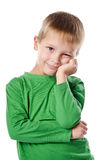 Portrait de beau petit garçon joyeux Photos stock