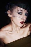 Portrait de beau rétro style Image libre de droits