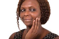 Portrait de beauté avec un beau visage et une peau lisse photos stock