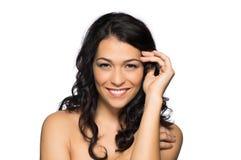 Portrait de beauté d'une belle femme photo stock