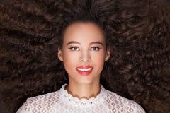 Portrait de beauté de fille africaine photographie stock