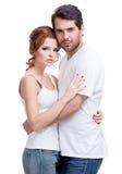 Portrait de beaux couples heureux attrayants. images stock