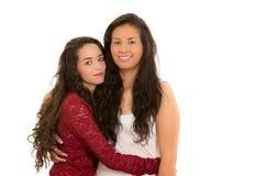 Portrait de beaux couples lesbiens dans l'amour Photo stock