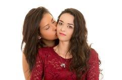 Portrait de beaux couples lesbiens dans l'amour Images libres de droits