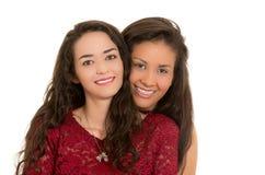 Portrait de beaux couples lesbiens dans l'amour Photographie stock