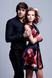 Portrait de beaux couples passionnés Photo libre de droits