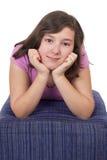 Portrait de belle adolescente Image libre de droits