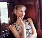 Portrait de belle dame. Images libres de droits