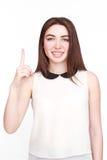 Portrait de belle femme dans le blanc Photos libres de droits