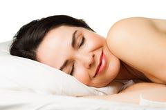 Portrait de belle femme de sommeil Image stock