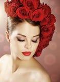 Portrait de belle fille avec le maquillage parfait Photographie stock libre de droits