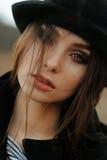 Portrait de belle fille avec les yeux magiques Images libres de droits