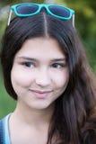 Portrait de belle fille regardant au côté Photographie stock libre de droits
