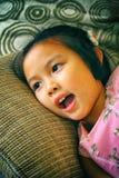 Portrait de belle jeune fille asiatique à la mode Images libres de droits