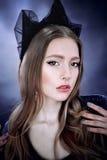 Portrait de belle personne royale majestueuse d'imagination de reine Image libre de droits