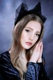 Portrait de belle personne royale majestueuse d'imagination de reine Photo stock