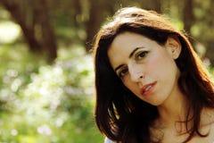 Portrait de belles 35 années de femme Image stock