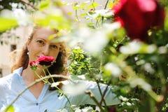 Portrait de belles 40 années de femme Image libre de droits