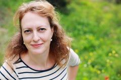 Portrait de belles vraies 40 années de femme Photos libres de droits