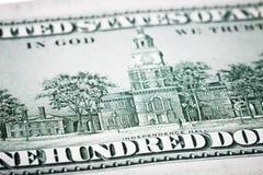 Portrait de Benjamin Franklin de cent dollars de billet de banque Photo libre de droits