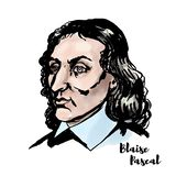 Portrait de Blaise Pascal illustration libre de droits