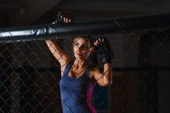Portrait de boxeur folâtre sexy de femme photos stock