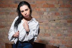 portrait de brune sexy photo stock